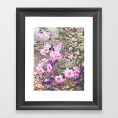 Pink and purple spring flowers Framed Art Print