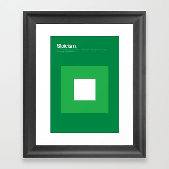 Stoicism Framed Art Print