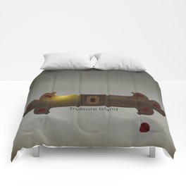 Treasure Island Minimal Poster Comforters