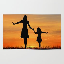Mother and Daughter Rug