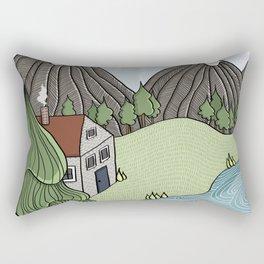 Cabin in the Mountains Rectangular Pillow