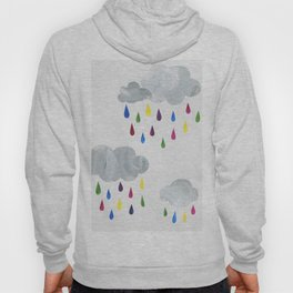Rainbow Rain Clouds Hoody