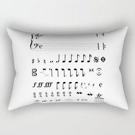 Musical Notation Rectangular Pillow