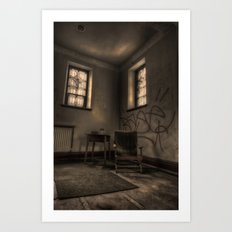 Sit father and take the weight of your feet. Art Print