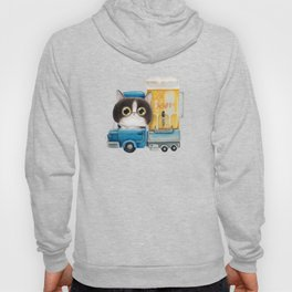 A cat in a beer truck Hoody