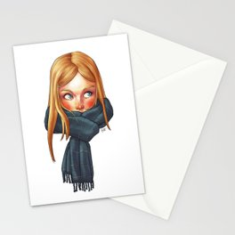 Blonde with Scarf Stationery Cards