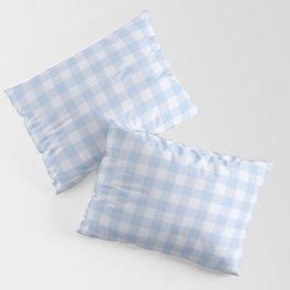 Gingham Pattern - Blue Pillow Sham