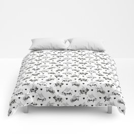 Flying Pigs   Black and White Comforters