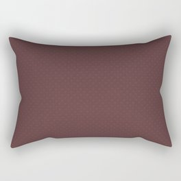 Pantone Red Pear Tiny Polka Dots Symmetrical Pattern Solid Color Rectangular Pillow