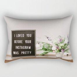 Life on insta Rectangular Pillow