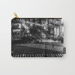 Shibuyacrossing at night - monochrome Carry-All Pouch