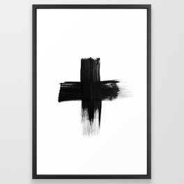 Cross Framed Art Print