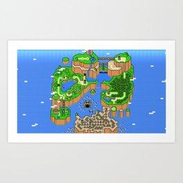 The World of Super Mario Art Print