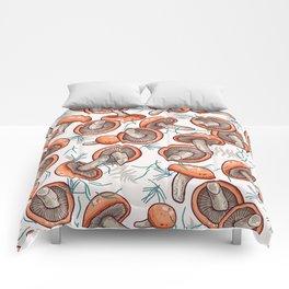 tasty shiitake pattern Comforters