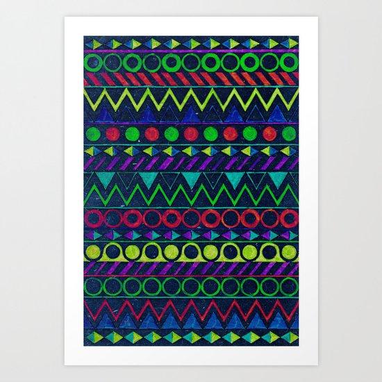 Billy Aztec Art Print