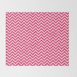 Pink Chevron Pattern Throw Blanket