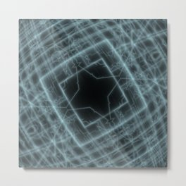 Electrical heated abstract cubic cube space tesseract pattern Metal Print