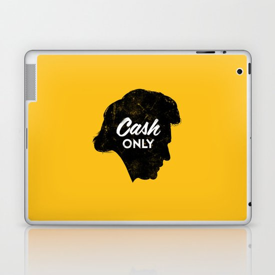 Cash Only (Gold) Laptop & iPad Skin