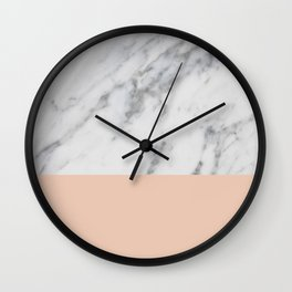 Marble and Blush Pink Wall Clock