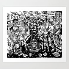 Monsters and Robots Art Print