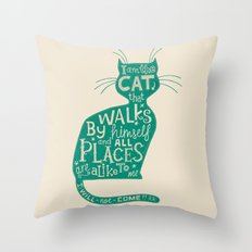 'The Cat That Walked by Himself' Throw Pillow