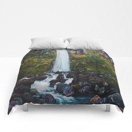 Dawson Falls, Mt Taranaki, New Zealand Comforters