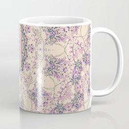 47 Wisteria Circle - Vintage Cream and Lavender Purple Mandala Coffee Mug