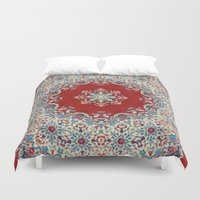 blood Duvet Covers featuring Mandala Nada Brahma  by Elias Zacarias