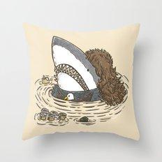 The Mullet Shark Throw Pillow