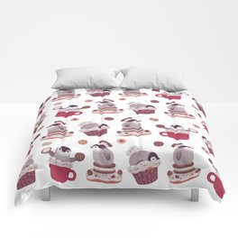 Cookie & cream & penguin Comforters