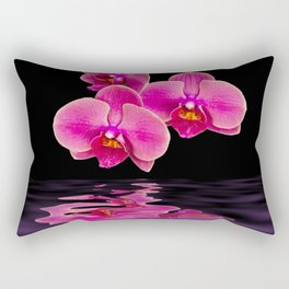 Mystical Pink Orchids Reflections Rectangular Pillow