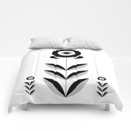 Retro Nordic Black & White Comforters