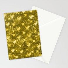 Shiny Gold Stationery Cards