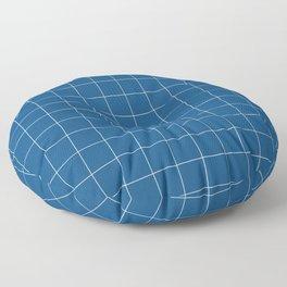Windowpane Check Grid (pantone classic blue) Floor Pillow
