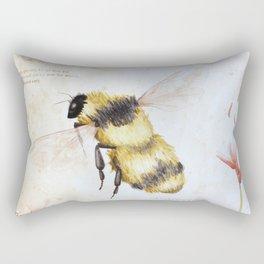Bumble bee watercolor Rectangular Pillow