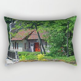 Lourdes University-  Behind the Portiuncula  Chapel Rectangular Pillow