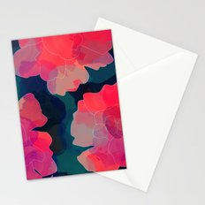 Blushing Flowers- Purple Stationery Cards