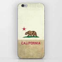 Vintage California Flag iPhone Skin