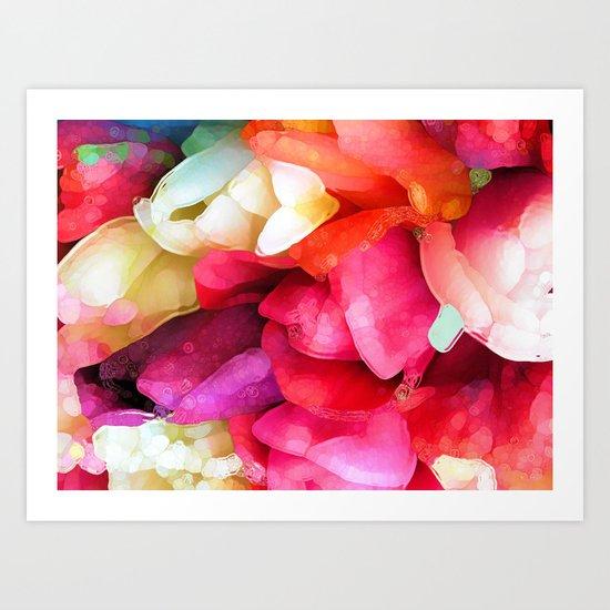 Flaming Tulips Art Print