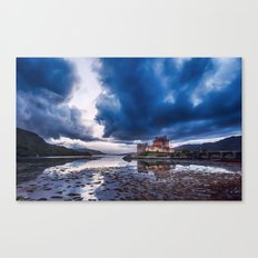 Stormy Skies over Eilean Donan Castle 2 Canvas Print