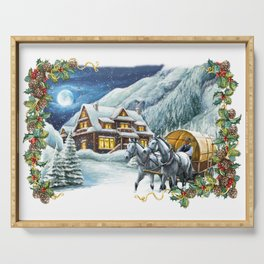 Christmas Winter Scene Serving Tray