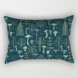 Magic Forest Green Rectangular Pillow