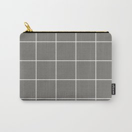 White Grid - Grey BG Carry-All Pouch