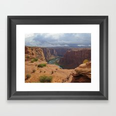 Glen Canyon Overlook Framed Art Print