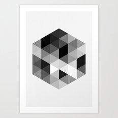 Geo Hex 02. Art Print