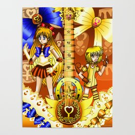 Sailor Mew Guitar #25 - Sailor Venus & Mew Pudding Poster