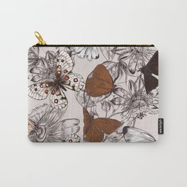Victorian style classic pattern with butterflies and tropical flowers Carry-All Pouch