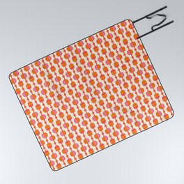 Mid Century Retro Dots Picnic Blanket