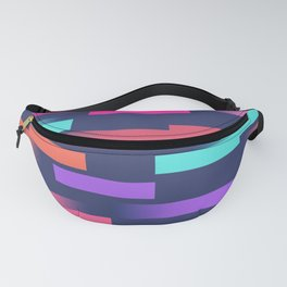 Abstract colorful sripes Fanny Pack