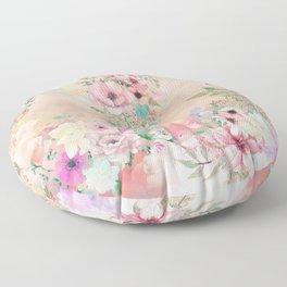 Botanical Fragrances in Blush Cloud Floor Pillow